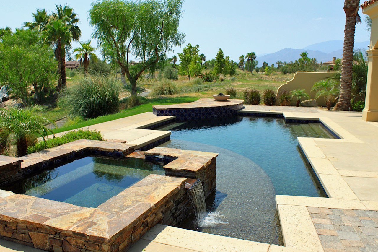 Benefits of custom pool design azure pools spas for Unique swimming pool designs